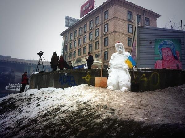 Ukrainian snowman